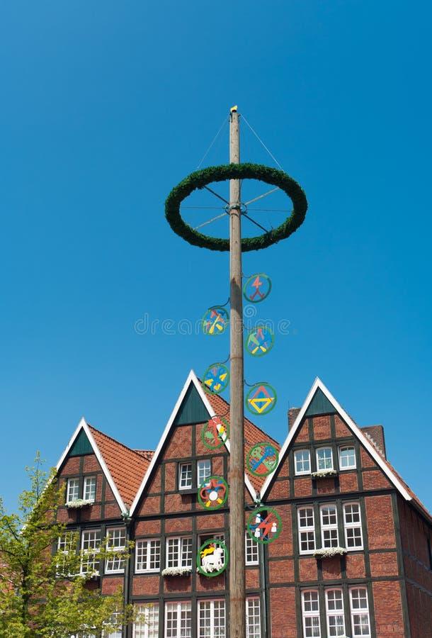 Maypole a Munster, Germania fotografie stock libere da diritti