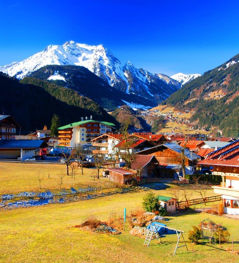 Mayrhofen, Áustria foto de stock royalty free