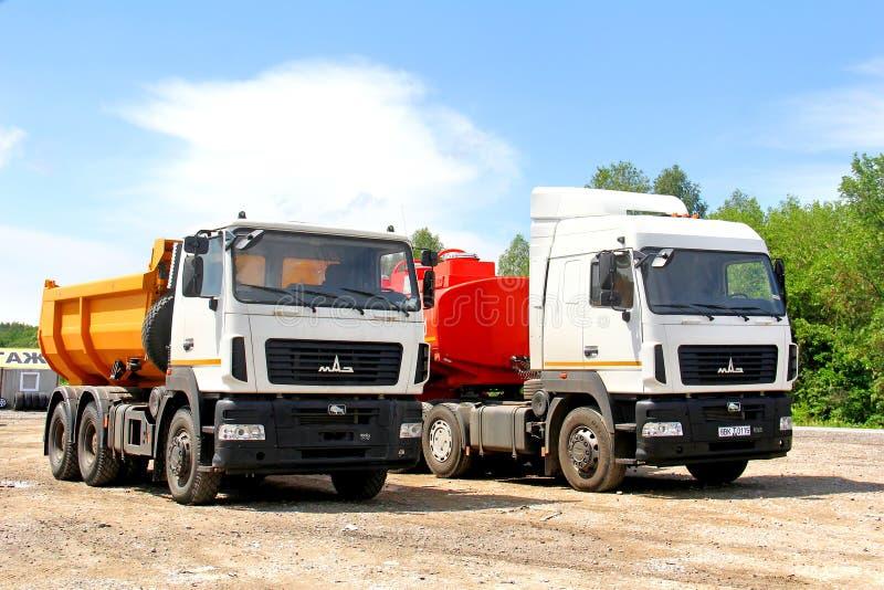 MAZ trucks stock image