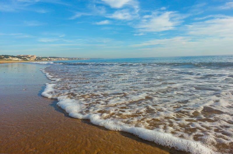 Mazagon海滩 Calanas 免版税库存照片