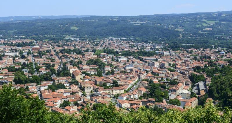Mazamet (França), vista panorâmica fotografia de stock royalty free