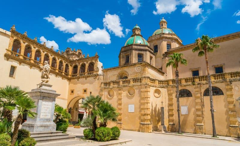 Mazara del Vallo, stad in de provincie van Trapan, Sicilië, zuidelijk Italië stock foto