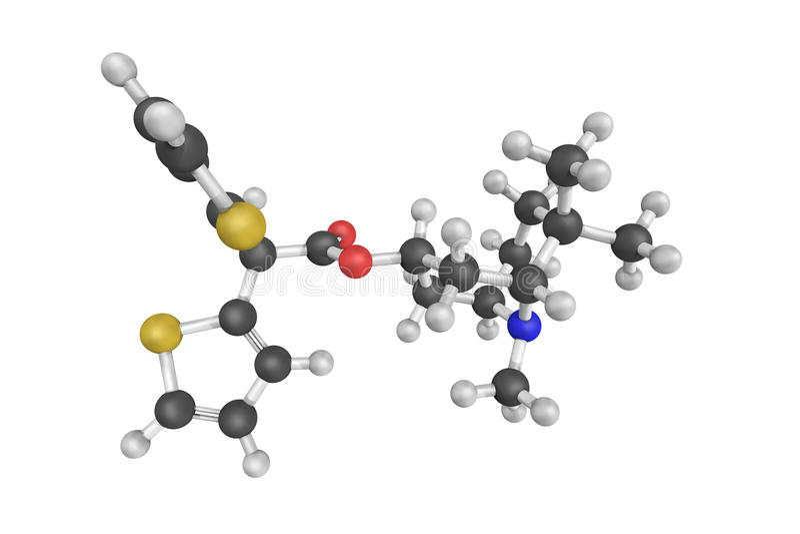 Mazaticol (Pentona), anticholinergic gebruikt als anti-Parkinson royalty-vrije stock fotografie