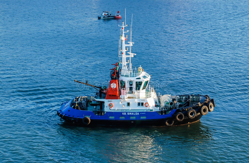 Mazatlan bogserbåt royaltyfri foto