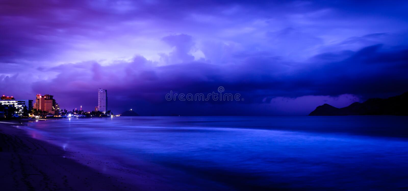 Mazatlan, Mexico, just before sunrise royalty free stock photo