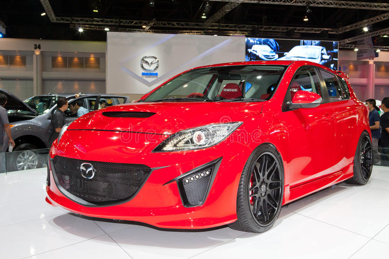Download Mazda 3 Car On Display At Mazda Booth Editorial Stock Image - Image of motorshow, presentation: 24138434