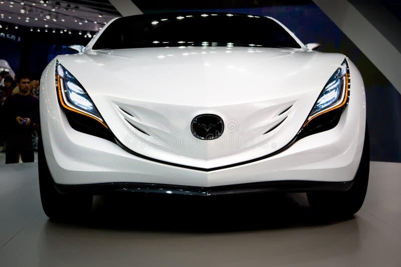 Mazda bij de tentoonstelling Motorshow 2008 van Moskou royalty-vrije stock afbeeldingen