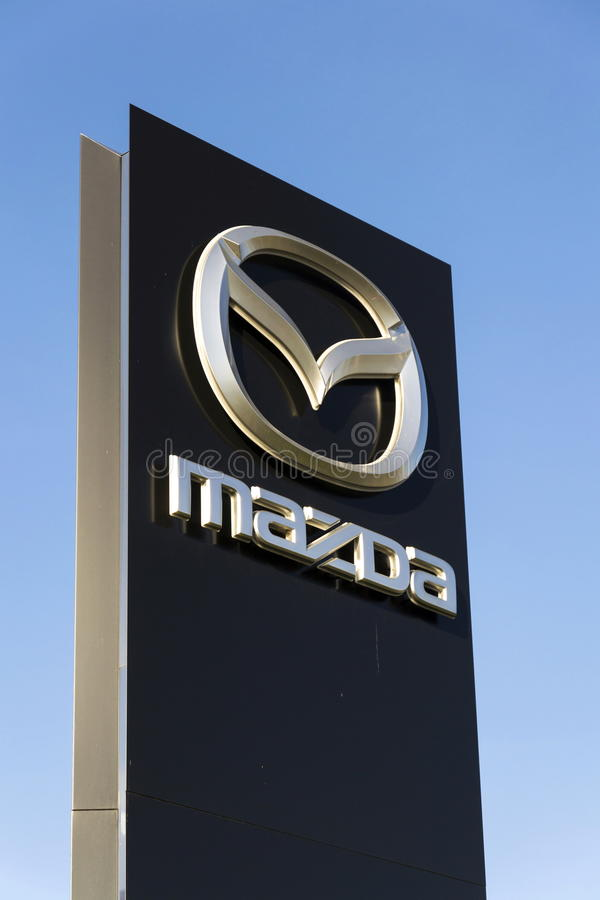 Free Mazda Car Company Logo In Front Of Dealership Building On March 31, 2017 In Prague, Czech Republic Royalty Free Stock Image - 89650956