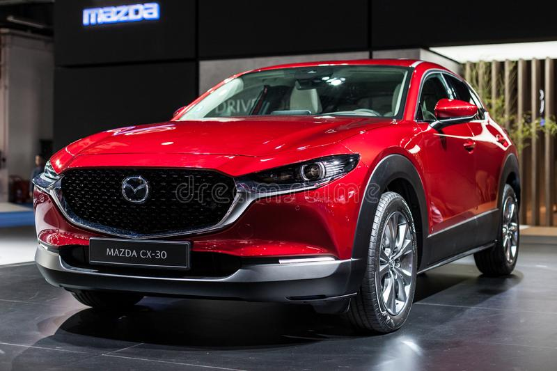 Mazda CX-30 all'automobile Barcellona 2019 fotografie stock
