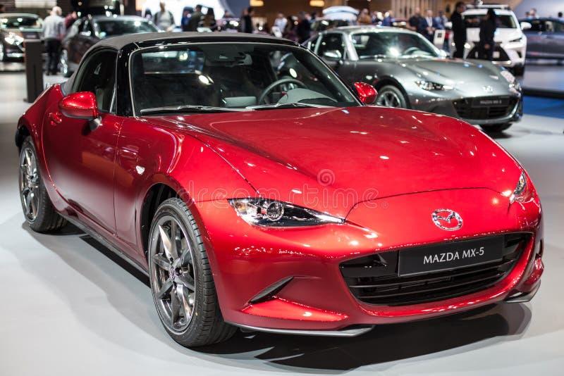 Mazda MX-5 en el automóvil Barcelona 2019 imagenes de archivo