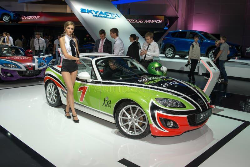 Mazda raduna la squadra fotografie stock libere da diritti