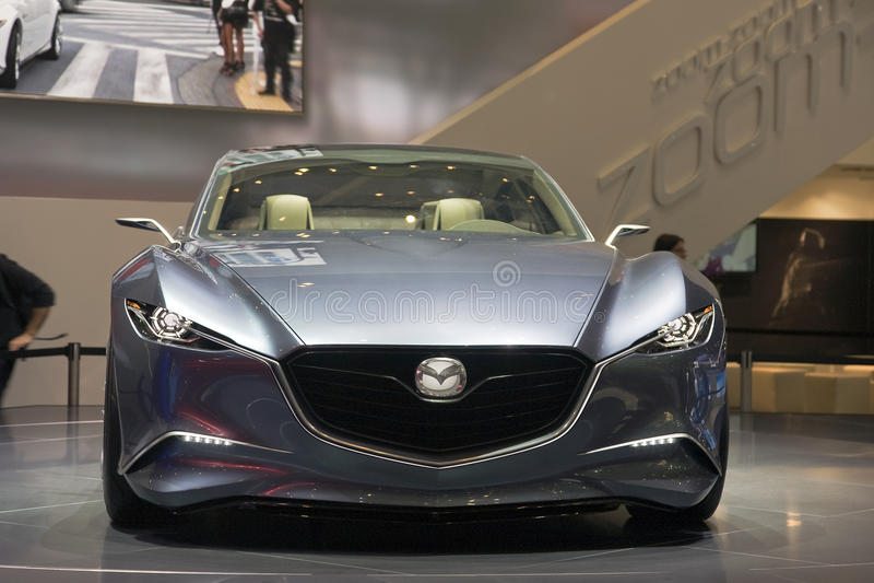 MAZDA Shinari Concept car. At the 2011 Geneva Motor Show. Photo taken on: March 04th, 2011 royalty free stock image