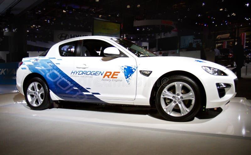 Mazda-Wasserstoff-Kraftstoff-Auto lizenzfreie stockfotografie