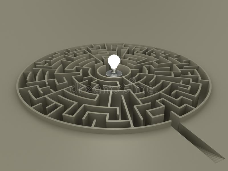 Maze 02. Another maze with idea as the center-piece stock illustration
