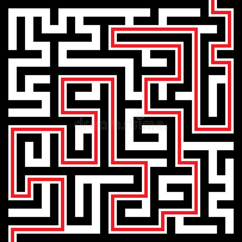 Download Maze stock vector. Image of exit, deadlock, confusion - 14993554