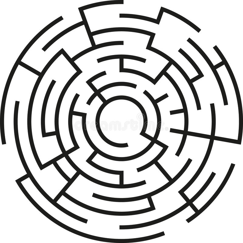 Maze royalty free illustration