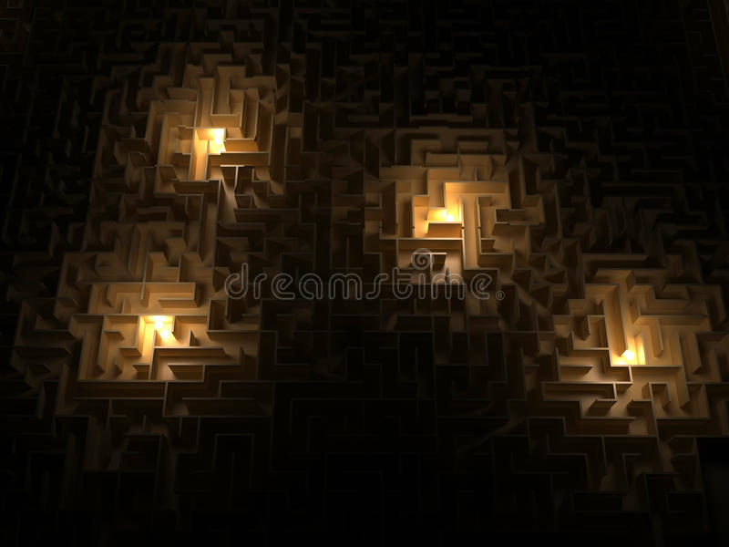 maze vektor illustrationer