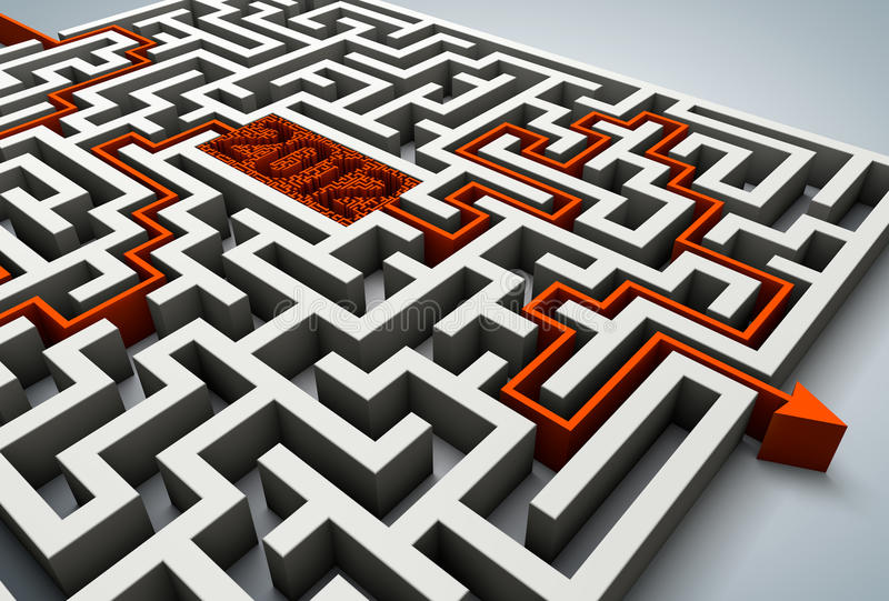 Download Maze 2012 stock illustration. Image of leadership, hopelessness - 22110114