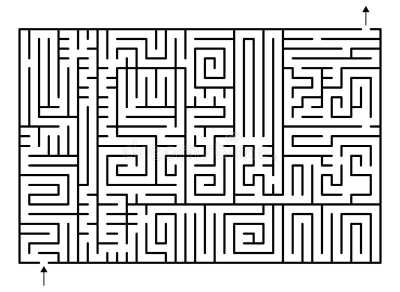 Download Maze stock vector. Illustration of experience, game, exit - 24740450
