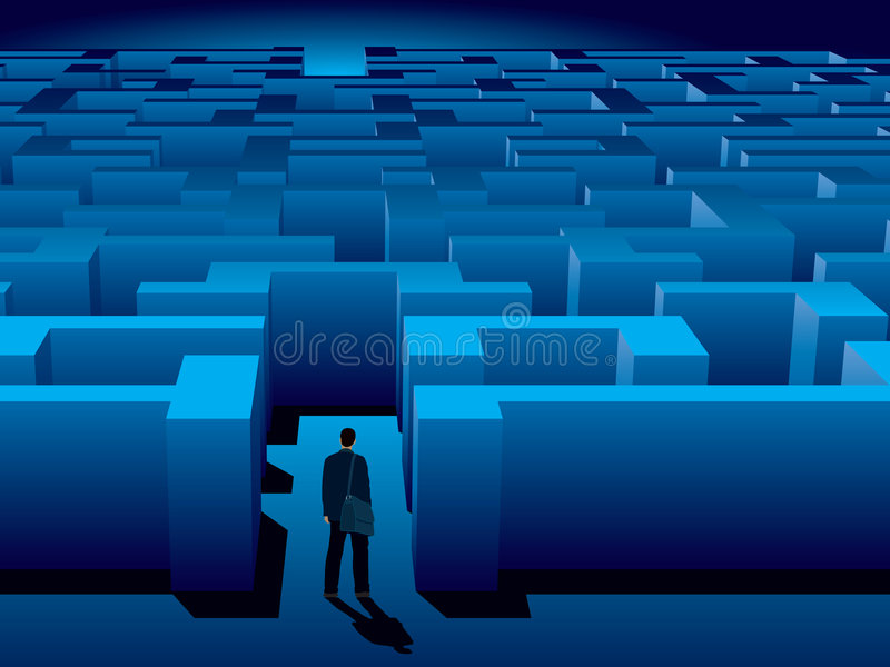 Maze stock illustration