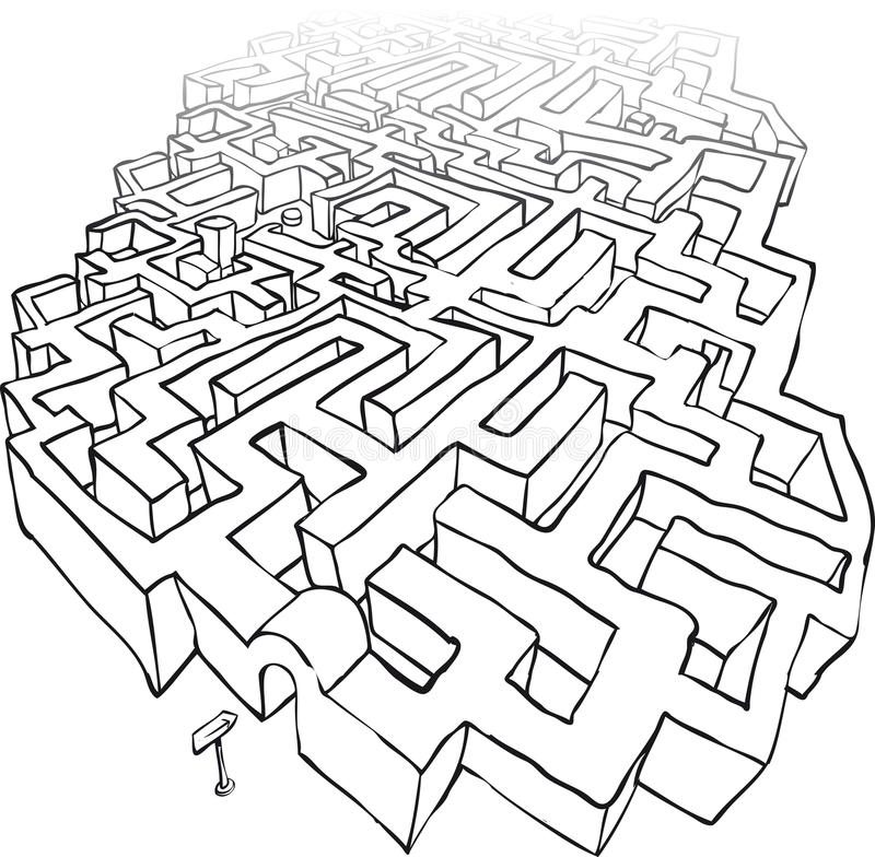 maze vektor illustrationer