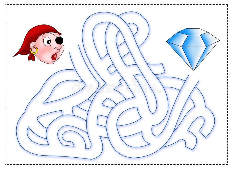 Maze 6 royalty free illustration