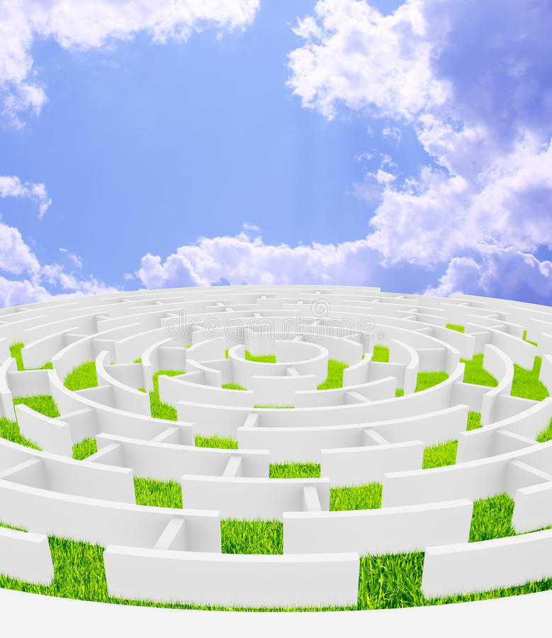 Download Maze stock illustration. Image of bright, nature, lost - 9703033