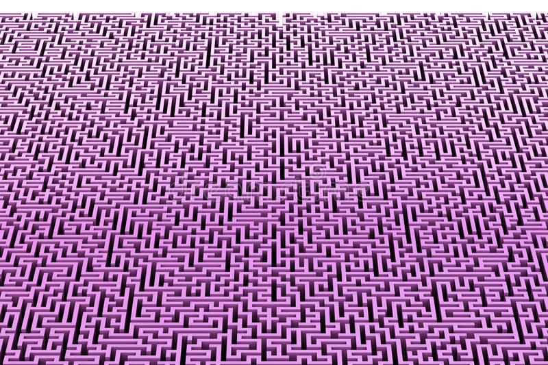 Maze. Abstract background. Contains clipping path stock illustration