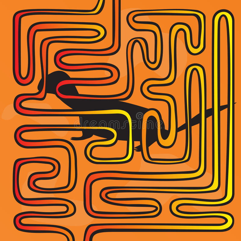 Download Maze with animal stock vector. Image of mind, scan, intricacy - 28404385