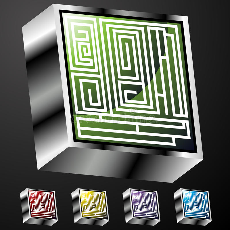 Download Maze Buttons stock vector. Image of light, graphic, colorful - 16369990