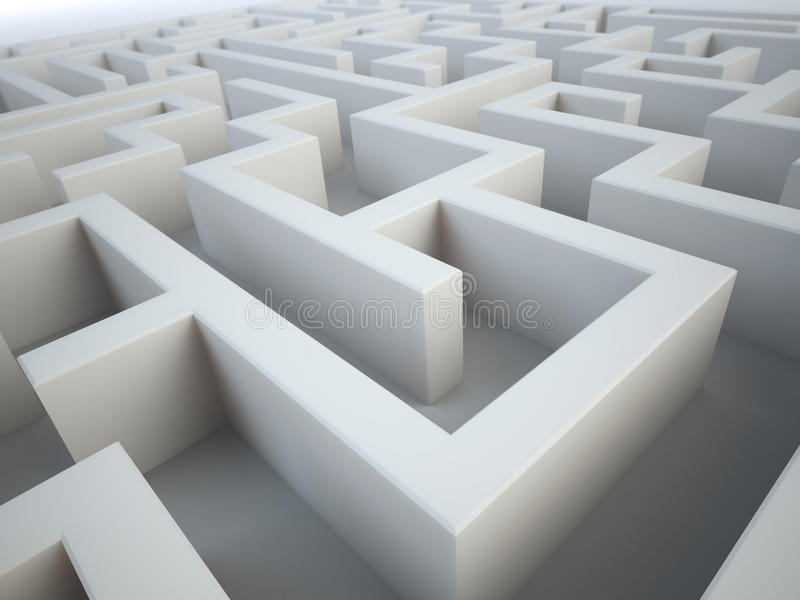 Download Maze close-up stock illustration. Image of help, direction - 19380849