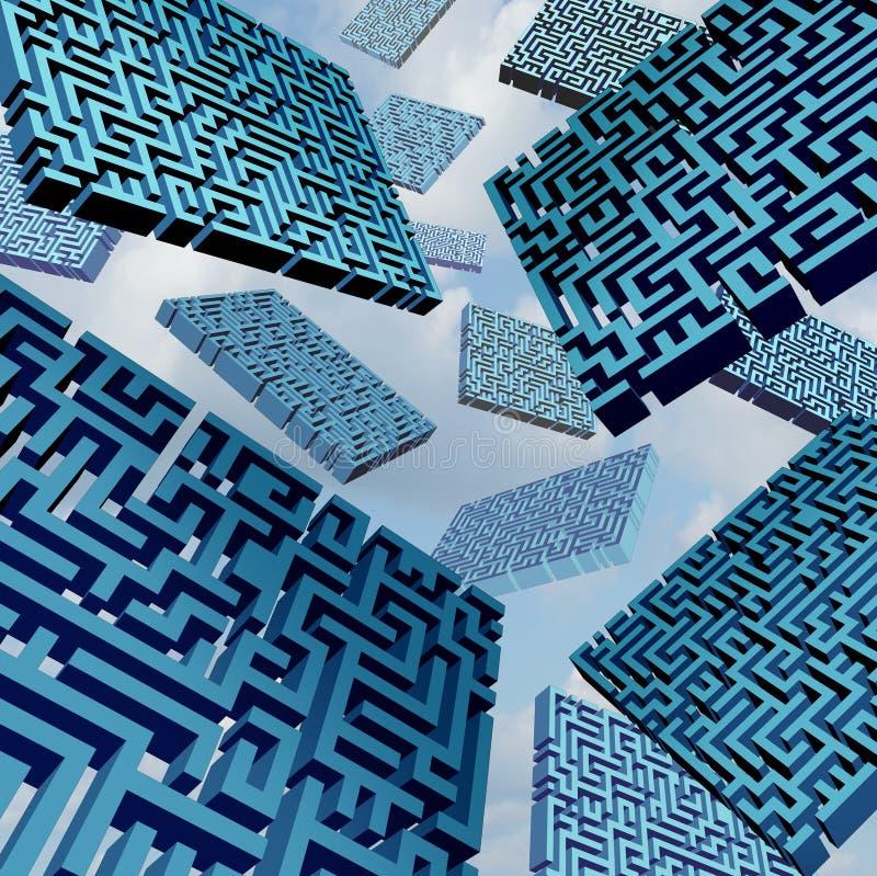 Maze Confusion Concept libre illustration