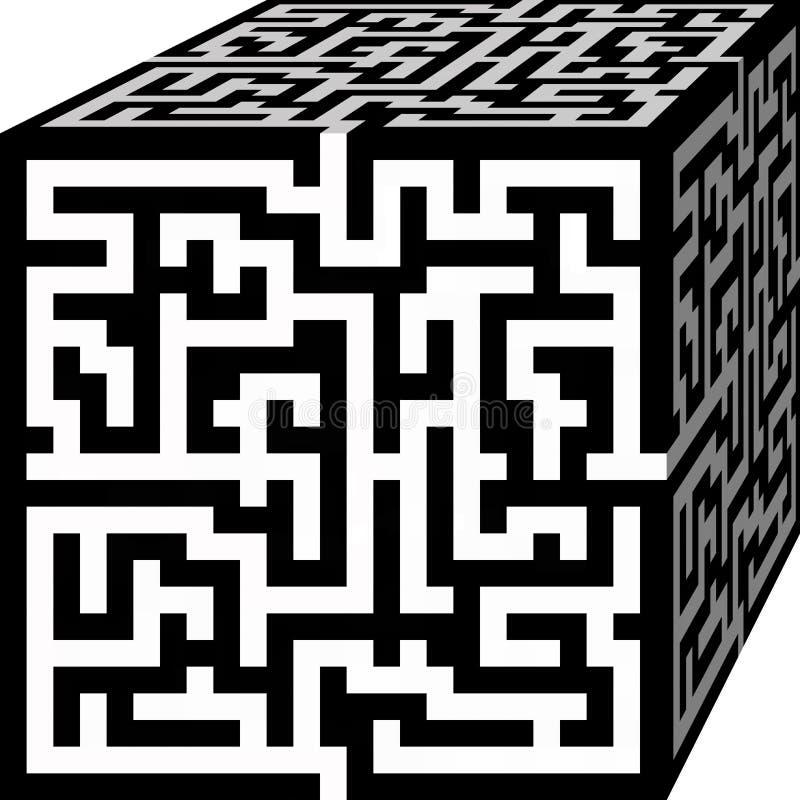 Maze Cube photographie stock