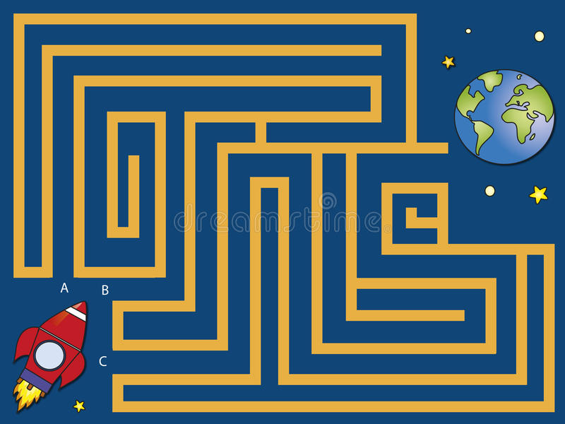 Download Maze stock illustration. Image of shuttle, composition - 30687412