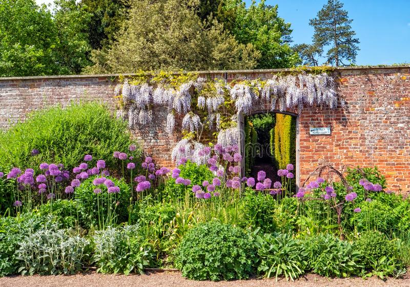Maze Entrance, Hampton Court Castle, Herefordshire, Angleterre images stock