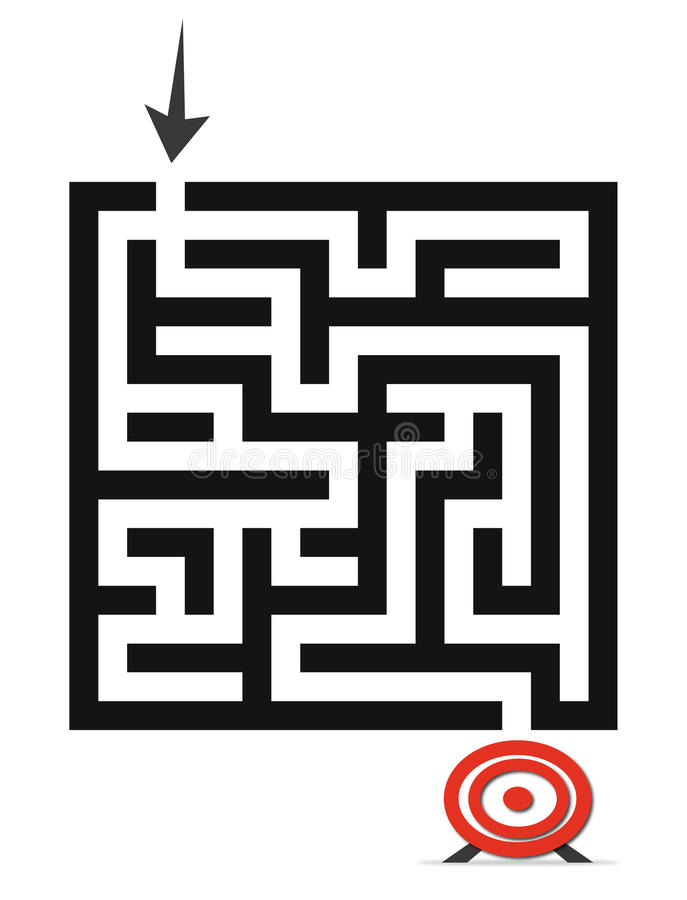 The maze game royalty free illustration