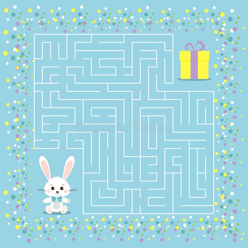 Maze game for the children with a labyrinth royalty free illustration