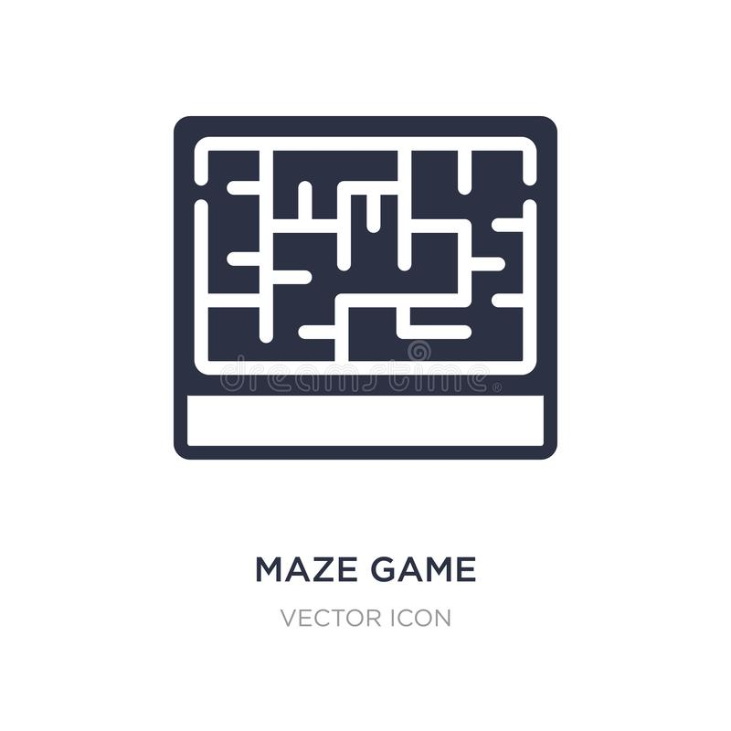 maze game icon on white background. Simple element illustration from Business concept stock illustration