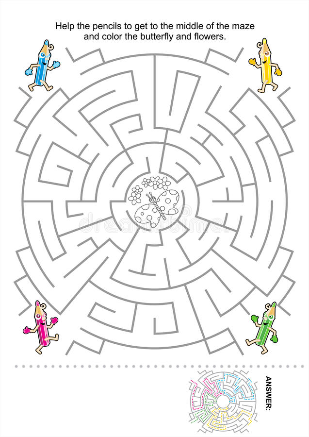 Download Maze Game For Kids Stock Photo - Image: 26651950