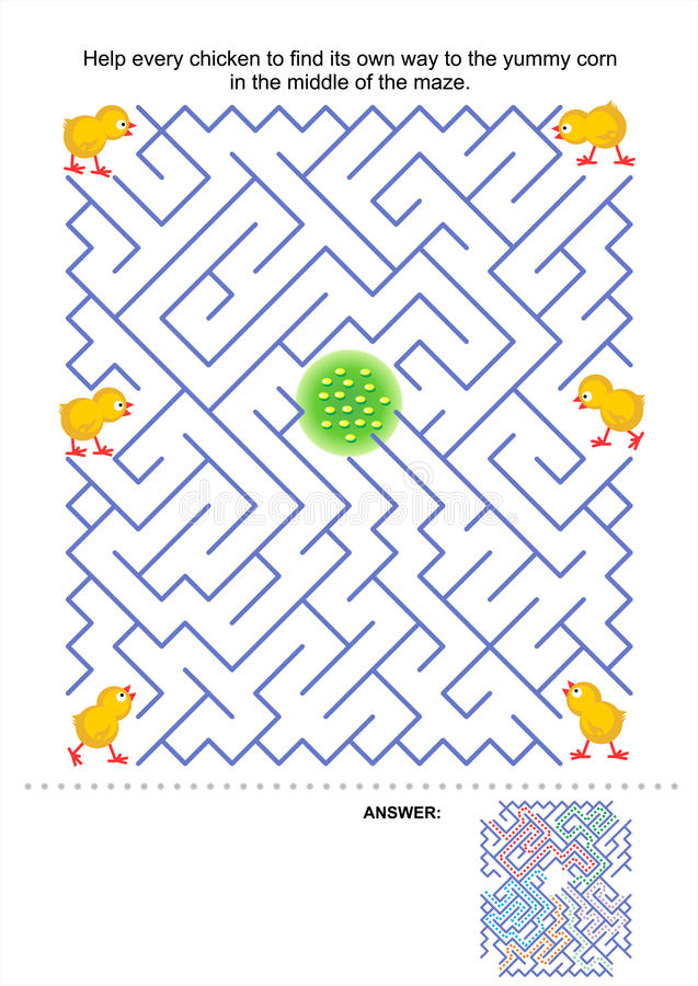 Download Maze game for kids stock vector. Image of games, easter - 28933659