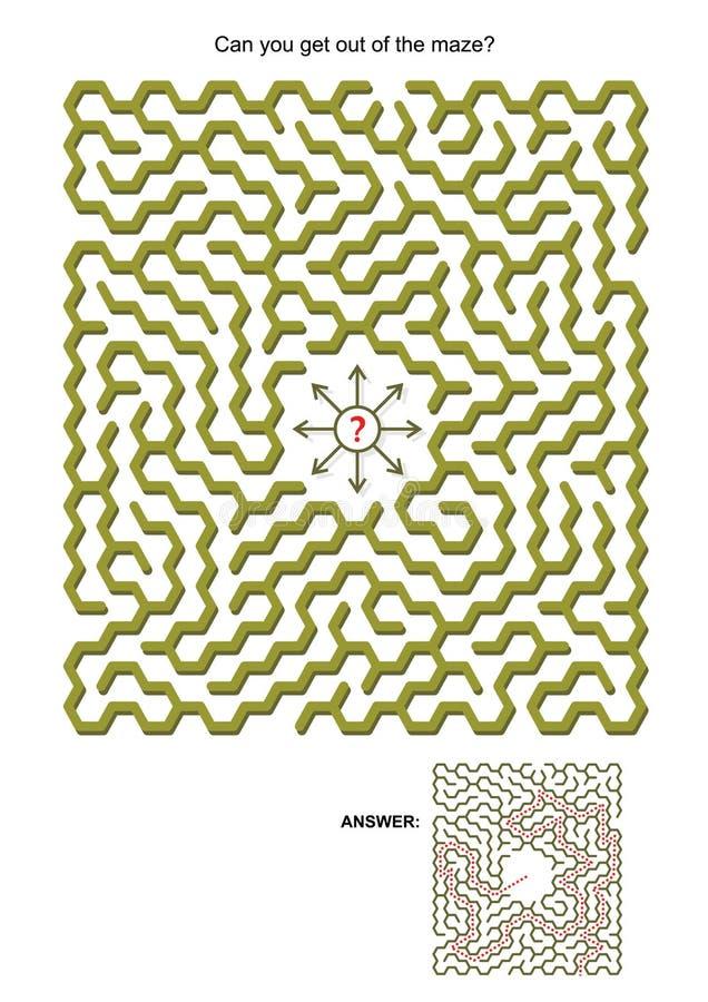 Maze game royalty free illustration