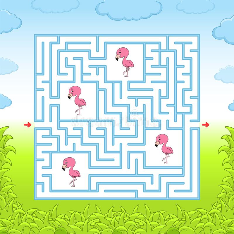 Maze. Game for kids. Funny labyrinth. Education developing worksheet. Activity page. Puzzle for children. Cute cartoon style. Riddle for preschool. Logical royalty free stock images