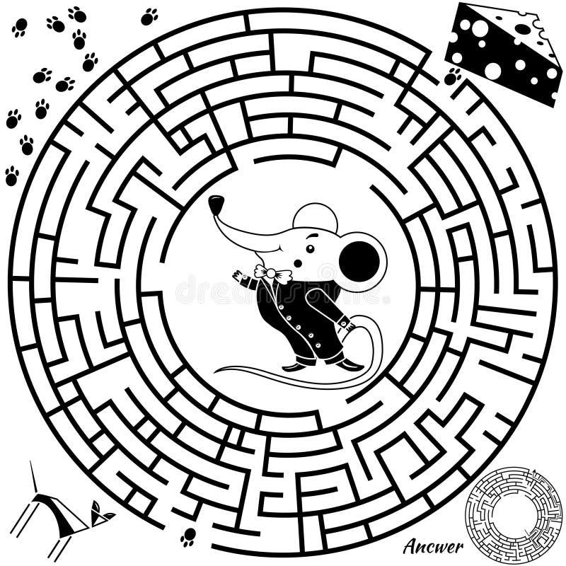 Download Maze Game For Kids Stock Vector Illustration Of Easy
