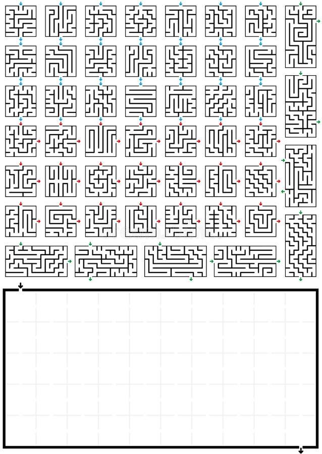 Arrows Maze Stock Illustrations – 268 Arrows Maze Stock