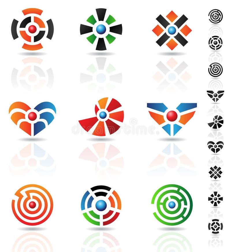 Maze icons royalty free illustration