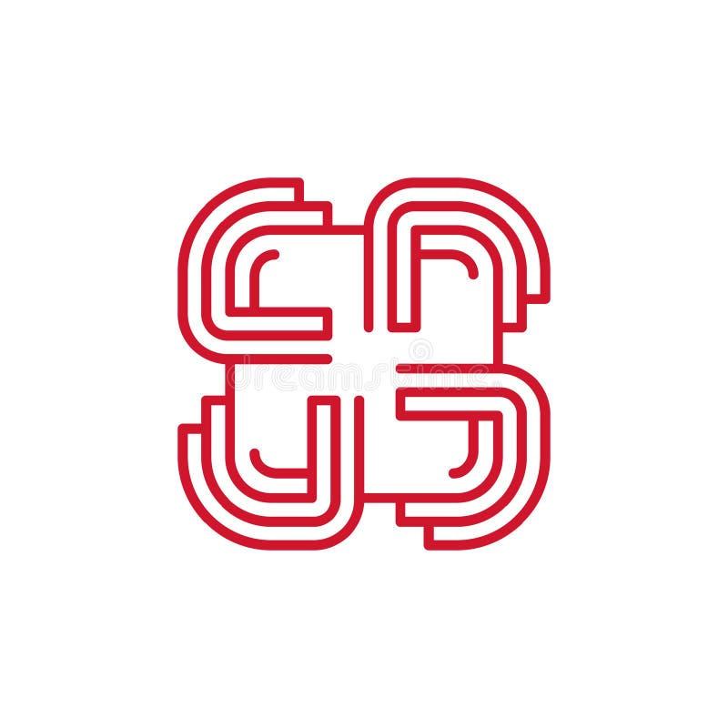 Maze Join Group Communication Team Logo Icon royalty-vrije illustratie