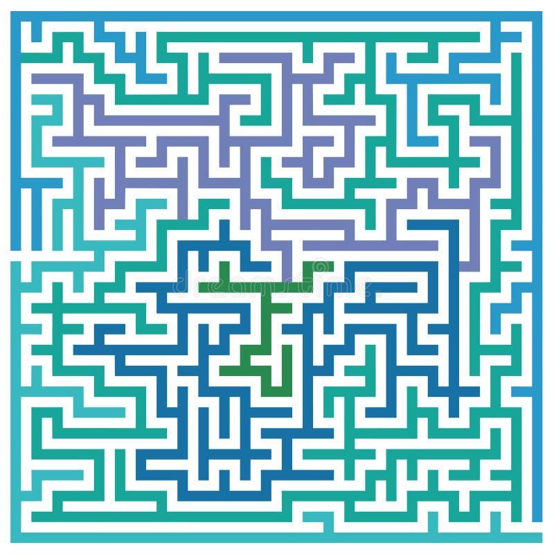 Maze or labyrinth royalty free illustration