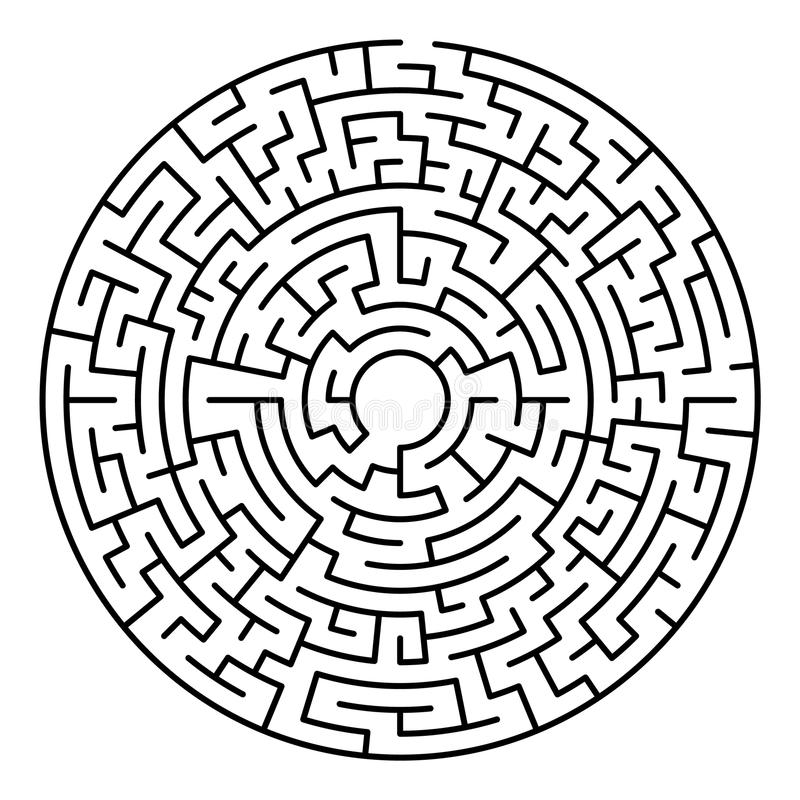 Maze labyrinth game royalty free illustration