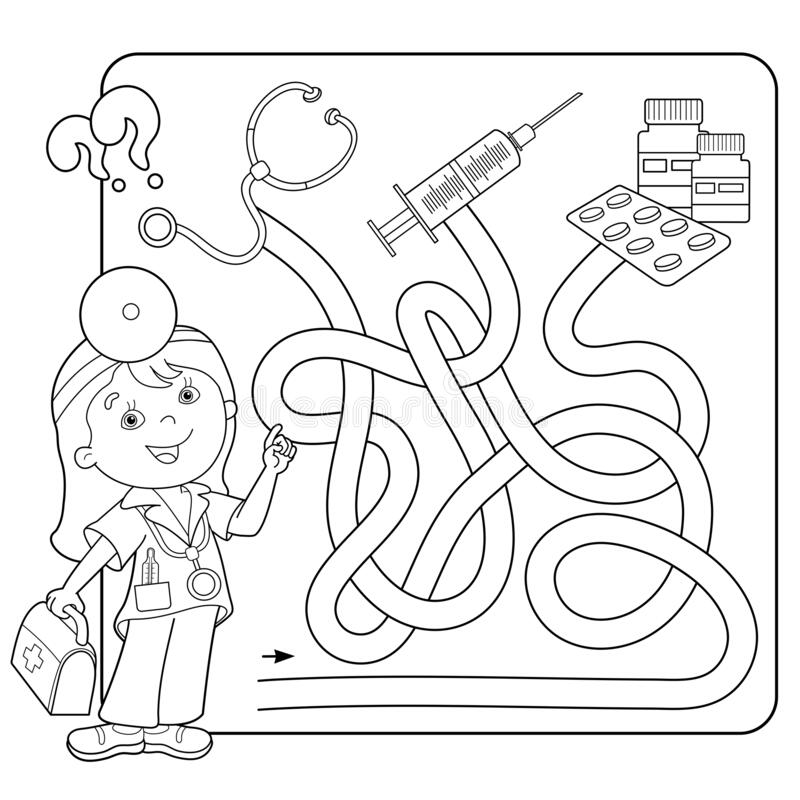Doctor Equipment Coloring Page | 800x800