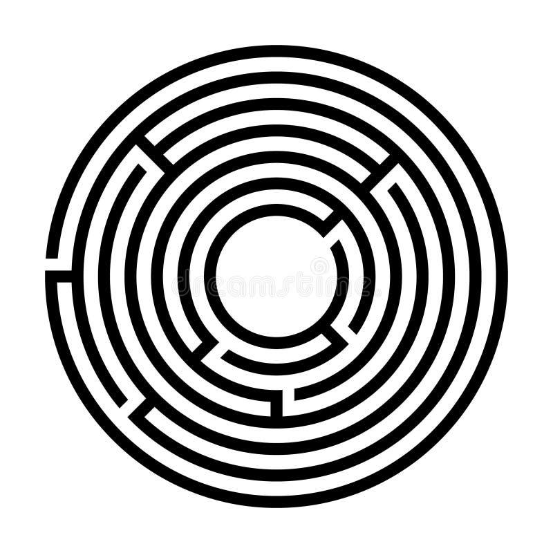 Maze. Labyrinth icon. Maze circular. Labyrinth icon. Flat design. Vector illustration stock illustration